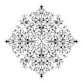 Pattern. Ornamental design, digital artwork — Stock Vector