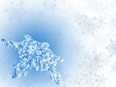 Winter snowflake background — Stock Vector