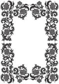Abstrato quadro ornamental decorativo com flor, vetor ilustr — Vetorial Stock