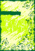 Abstract Grunge Floral Background — 图库矢量图片