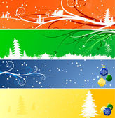 Winter Christmsa banners — Stock Vector