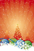 Abstract Christmas Background — Stock Vector