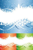 Grunge winter background — Stock Vector