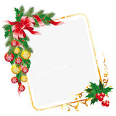 Christmas letter decoration — Stock Vector