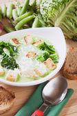 Hustá zeleninová polévka — Stock fotografie