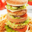 Double chicken burger — Stock Photo #12050462