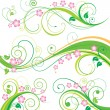 Spring Floral Decor — Stock Vector