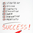 Success highlighted with red marker — Stock Photo