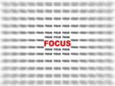 Focus on focus — Stockfoto