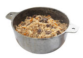 Pilau in stew pan — Stock Photo