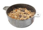 Pilau in stew pan — Stock Photo