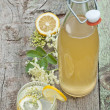 Elderflower cordial - Stock Photo
