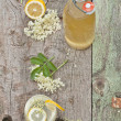 Stock Photo: Elderflower cordial