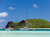 Mauritius. Catamarans near the island Gabriel — Stock Photo