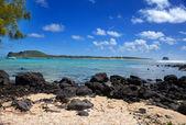Mauritius. adanın taşlı peyzaj gabriel — Stok fotoğraf
