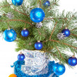 New Year's still-life - fur-tree branches — Stockfoto