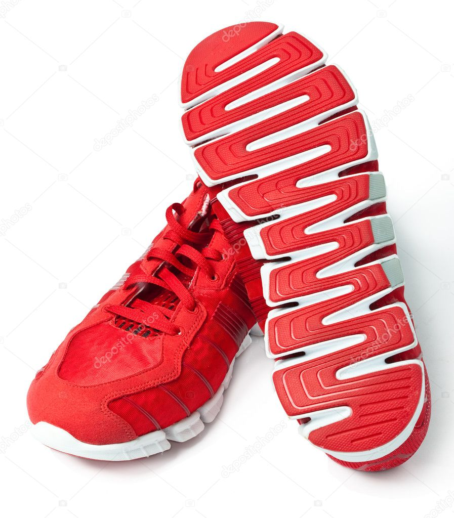 Brightly red trainers — Stock Photo #11402784