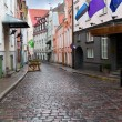 Old city's  streets after the rain. Tallinn. Estonia - Stock Photo