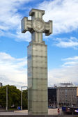 «Freedom monument» on Freedom Square, is devoted to Emancipating war of 1918-1920, Tallinn, Estonia — Stock Photo