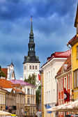 View on St. Nicholas' Church (Niguliste). Old city, Tallinn, Estonia — Stock Photo