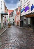 Old city's streets after the rain. Tallinn. Estonia — Stock Photo