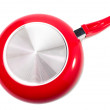 Red frying pan — Stock Photo