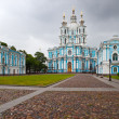 View on Smolnyi cathedral (Smolny Convent) St. Petersburg. Russia — Stock Photo