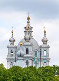 Smolnyi cathedral (Smolny Convent) St. Petersburg — Stock Photo