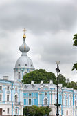 Smolnyi cathedral (Smolny Convent) St. Petersburg.Russia — Stok fotoğraf