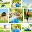 Fitness woman collection — Stock Photo