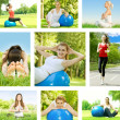 Stock Photo: Fitness woman collection