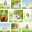 Yoga woman collection — Stock Photo