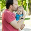 Stock Photo: Father and baby