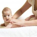 Baby massage — Stock Photo #11459935