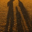 Silhouette of family — Stock Photo