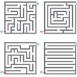 0245 small mazes - Stock Vector