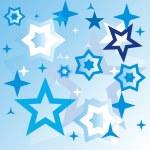 Stars blue background — Stock Vector