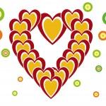 Heart from hearts — Stock Vector
