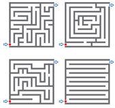 0245 small mazes — Stock Vector