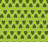 Green heart background — Stock Vector