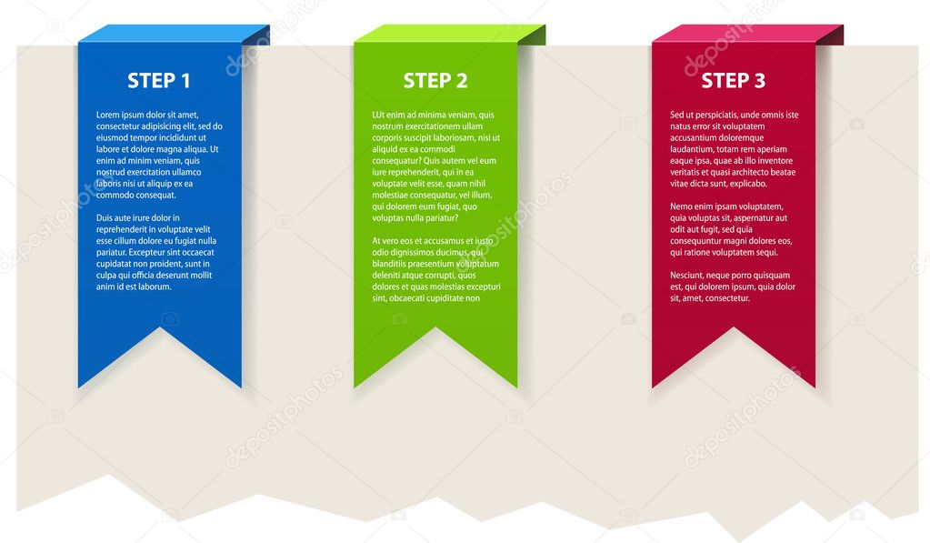 Three color banners with sample text. — Stock Vector #11905117