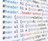 Css и html кода — Cтоковый вектор
