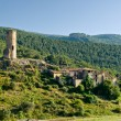 Abandoned village in the Pyrenees mountain, Catalonia, Spain - Stock Photo