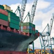 lading schip laden containers — Stockfoto