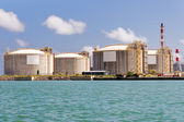 LNG Tanks at the Port of Barcelona — Stock Photo