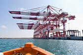 Cargo Cranes in Industrial Port — Stock Photo