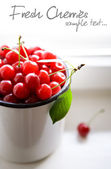 Bunch of cherries — Stock Photo