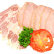 Meat slices — Stock Photo