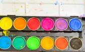 Color pallet — Stock Photo