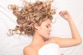 śpiąca kobieta — Zdjęcie stockowe
